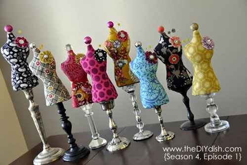 dress form pincushions