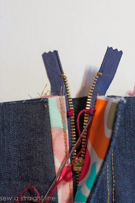 zipper fly jeans sew along sew a straight line-34