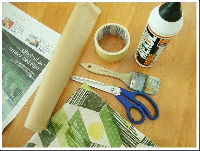 DIY fabric masking tape supplies