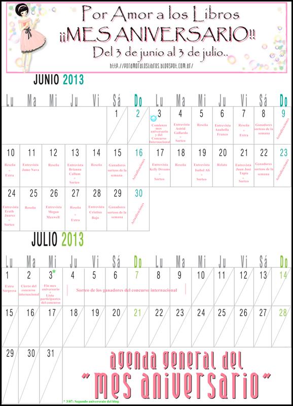 agenda mes aniversario