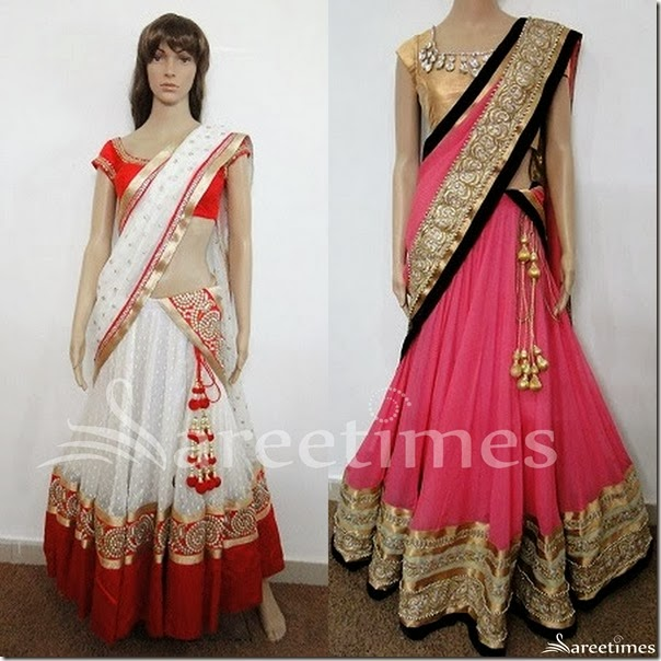 White_and_Pink_Half_Sarees_for_Valentines_Day