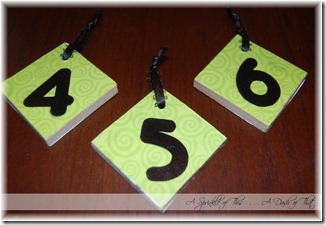 Birthday Board Number Blokds Back {A Sprinkle of This . . . . A Dash of That}
