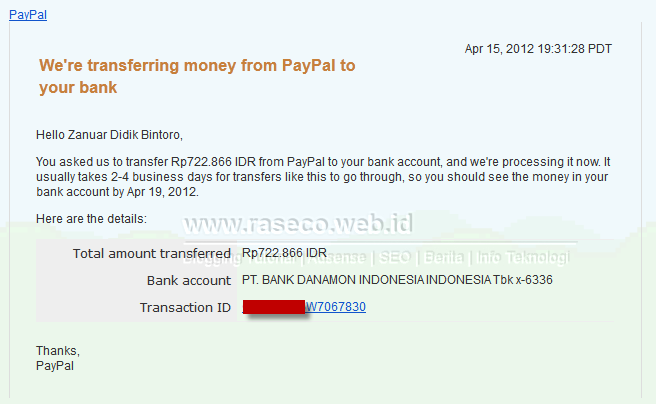 Akun Limit Paypal?, Tetap Sukses Pencairan Paypal ke Bank Lokal
