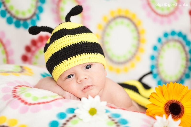 Егор, 17 дней. Фотографирование младенцев