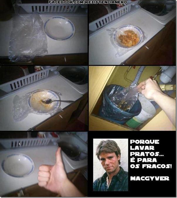 Pra você amigo que não curte lavar uma louça