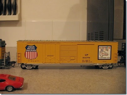 IMG_5072 Union Pacific Boxcar #166394 by Athearn on January 20, 2007