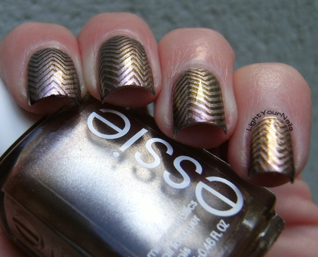 Chevron stamping with BP-08 plate