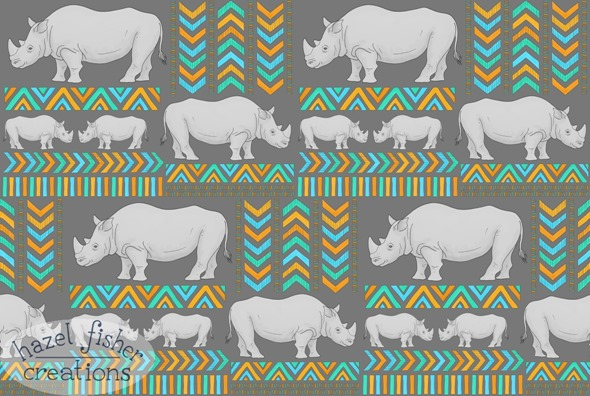 2014 July 15 rhinoceros Spoonflower contest entry hazel fisher creations