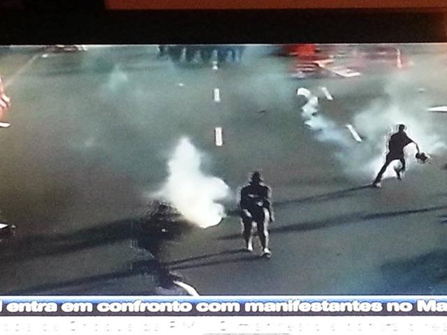 Manifestação Violencida da Policia 2