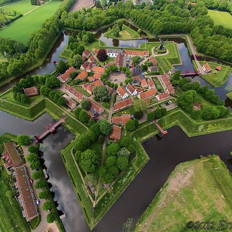 Star-Shaped Fort Bourtange in Netherlands