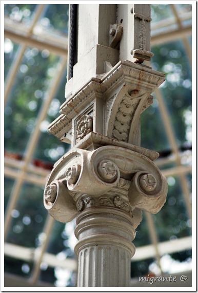 palacio de cristal - parque del retiro - madrid - capitel interior