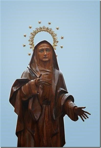 Foto de la Imagen de María Santísima de la Esperanza, co-titular de esta Cofradía