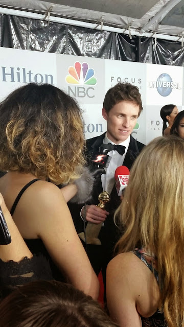 Eddie Redmayne at the 2015 Golden Globes NBC After Party