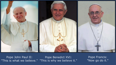 3 popes one teachng