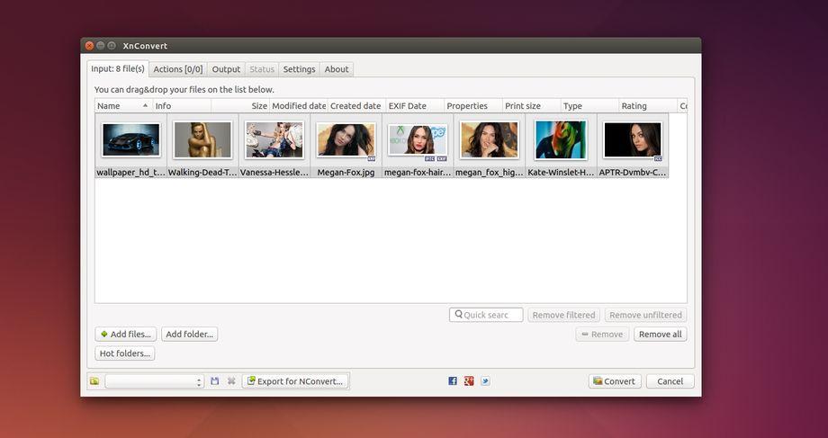 XnConvert in Ubuntu