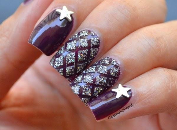 Criss Cross Taping Nail Art