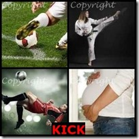 KICK- 4 Pics 1 Word Answers 3 Letters