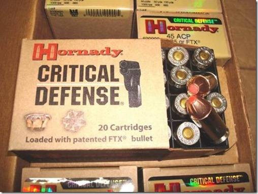Hornady - .45acp Critical Defense 185 gr - 20 Rounds
