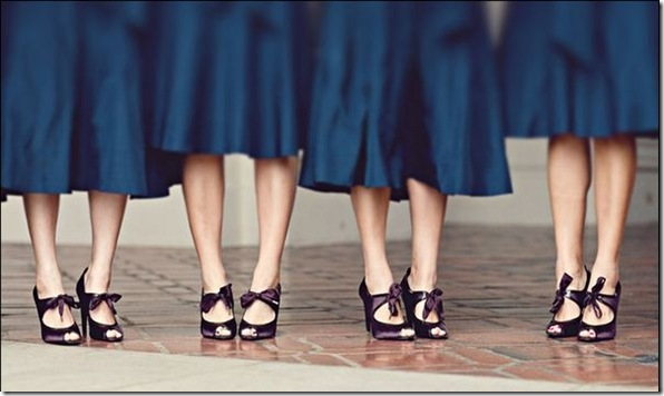 purple-bridesmaids-shoes-blue-bridesmaids-dresses