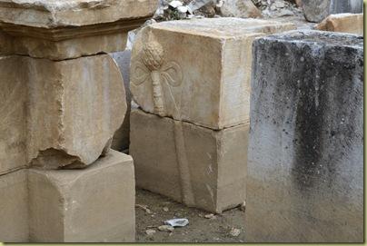 Stratonikeia Theatre reliefof a Thyrsos