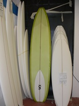 The Joker shovel nose bonzer longboard - Tim Stafford Surfboards