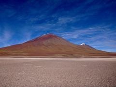 Volcanoes near Laguna Blanca, Southwestern Bolivia.