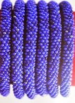 Rollover bracelet blue solid