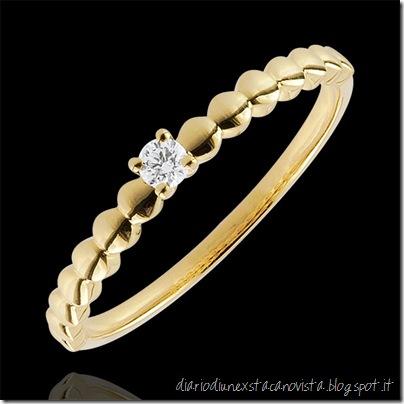 Comprare on line anello Solitario Bon bon oro giallo