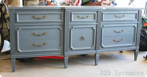 Lovely Spray Painted Dresser
