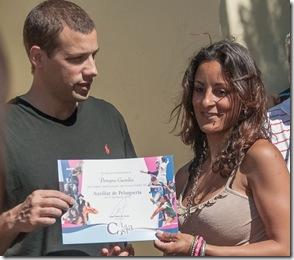 Juan Pablo de Jesús entregó certificados a los alumnos
