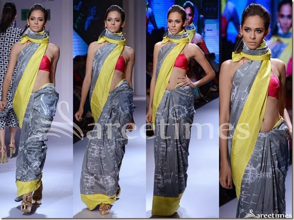 Masaba_Grey_Saree