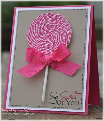 lollipop birthday card
