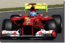 Alonso nelle prove libere del gran premio di Spagna 2012