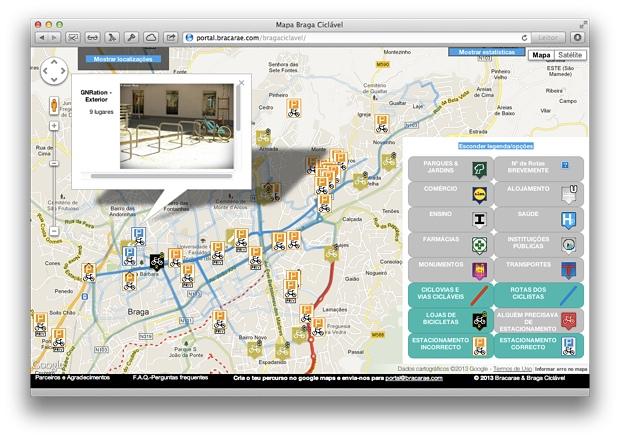 Mapa Braga Ciclável - informações úteis para ciclistas