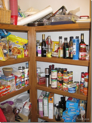 dis-organized pantry