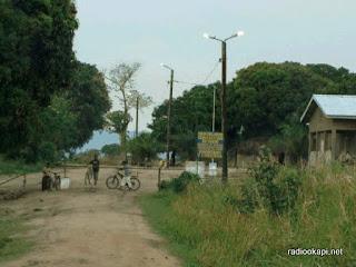 Une vue du poste frontalier de Pweto, vers la Zambie. Radio Okapi