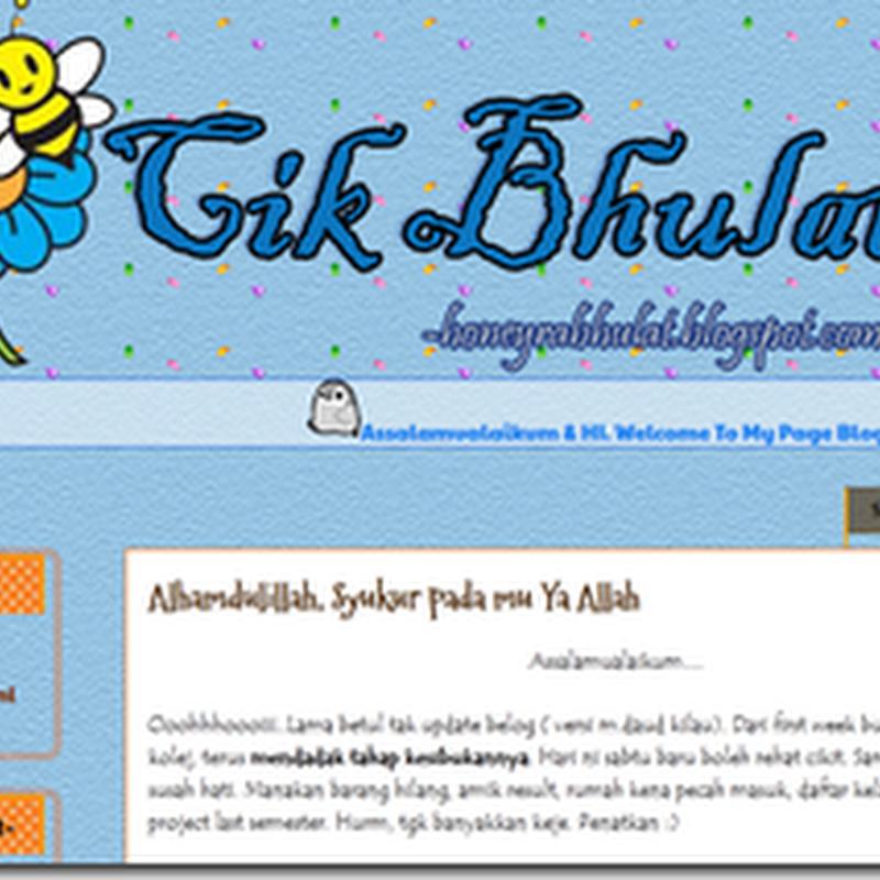 Blog cool yang aku singgah hari ni ..