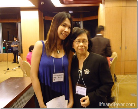 Stef dela Cruz and Dr. Cecila Llave
