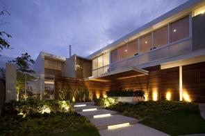 Fachada moderna Casa FF Hernandez Silva Arquitectos