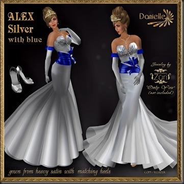 DANIELLE Alex Silver w blue'