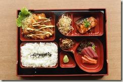 tsukiji tonkatsu and salmon bento