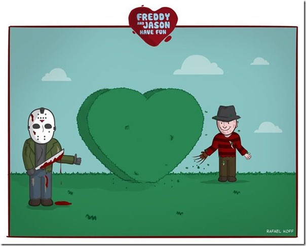 Freddy e Jason se divertindo (1)