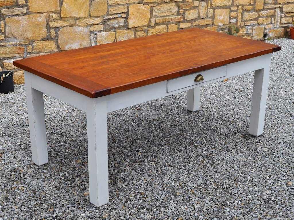 Distressed Country Dining Table: Carpenter on Crete, Kitchens