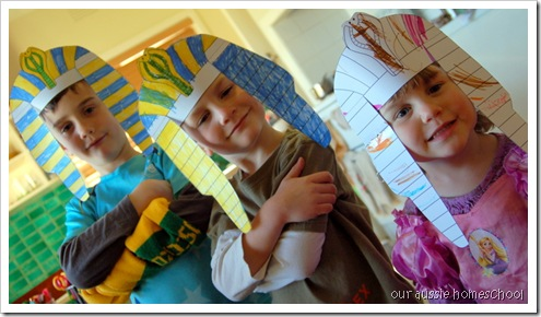 King Tut Headdress ~ Our Aussie Homeschool
