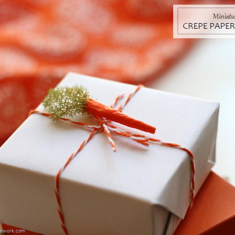 CELEBRATIONS: Miniature Crepe Paper & Moss Carrots