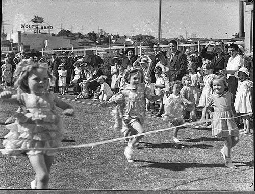 Children's running race