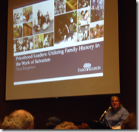 Tara Bergeson teaches family history consultants