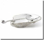 Silver Oyster Shell