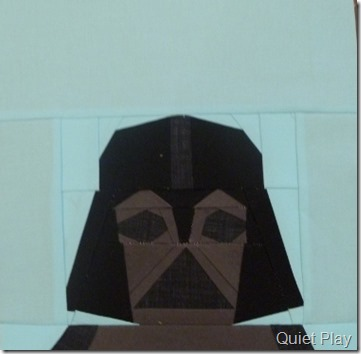 Paper Pieced LEGO Darth Vader