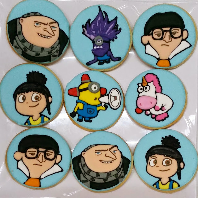 Despicable me , minions, gru, agnes, vector cookies